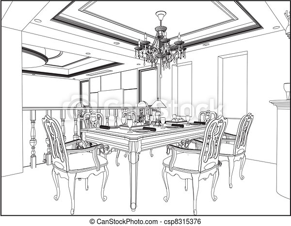 Dining Rooms Clip Art And Stock Illustrations 5032 EPS Vector Graphics Available To Search From Thousands Of