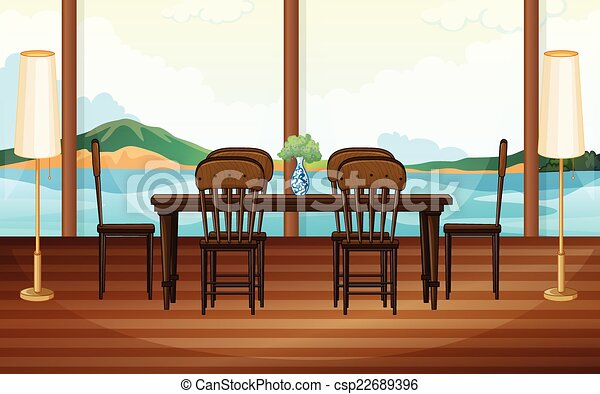Dining room - csp22689396