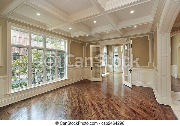 Dining room in new construction home - csp2464296