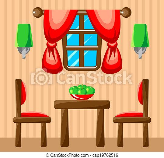 Vector. Dining Room Interior.   Csp19762516