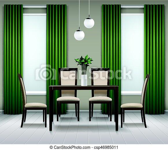 Dining Room Interior   Csp46985011