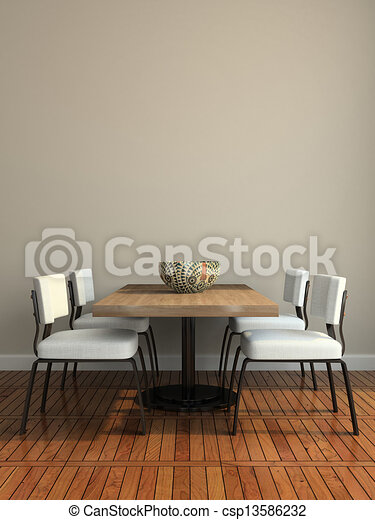 dining-room, parte, moderno - csp13586232
