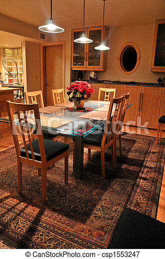 dining room table - csp1553247