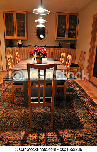 dining room table - csp1553236
