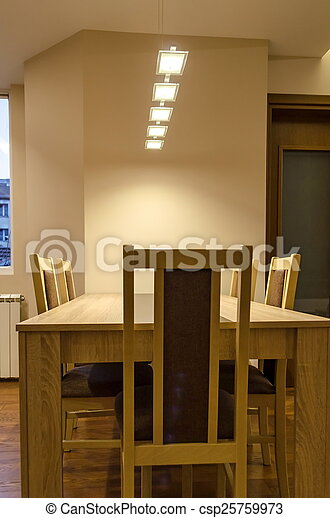 Dining-table in living room  - csp25759973