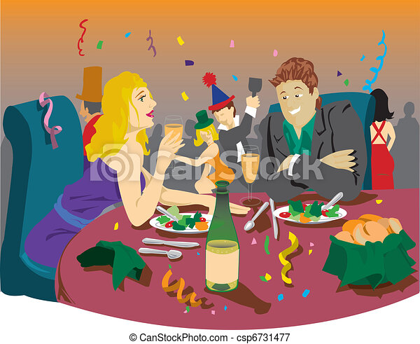 free clip art dinner party