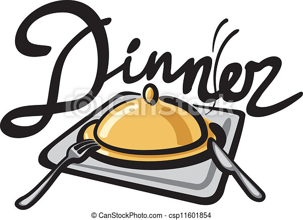 dinner handwriting rh canstockphoto com diner clipart free dinner clip art border