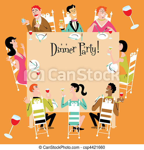 Dinner Party Invitation - csp4421660