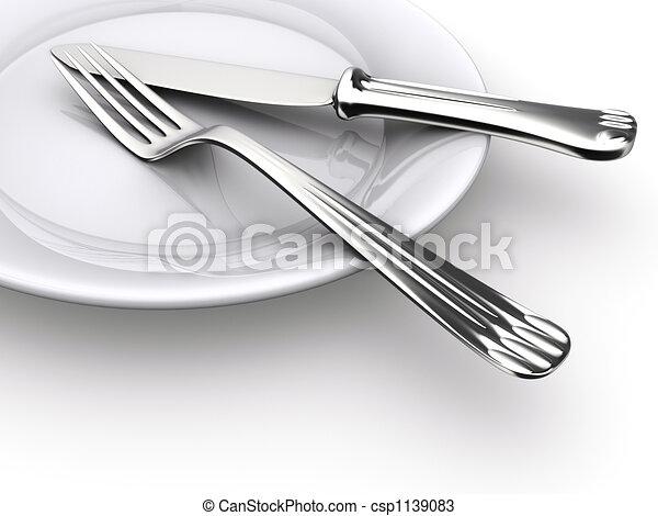 Dinner plate - csp1139083