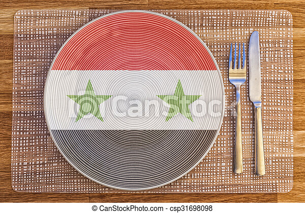Dinner plate for Syria - csp31698098