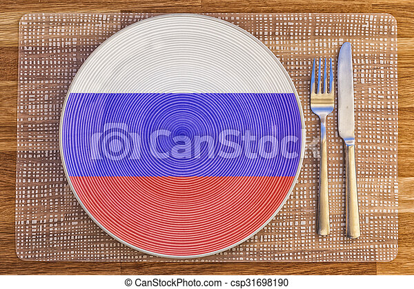 Dinner plate for The Russian Federation - csp31698190