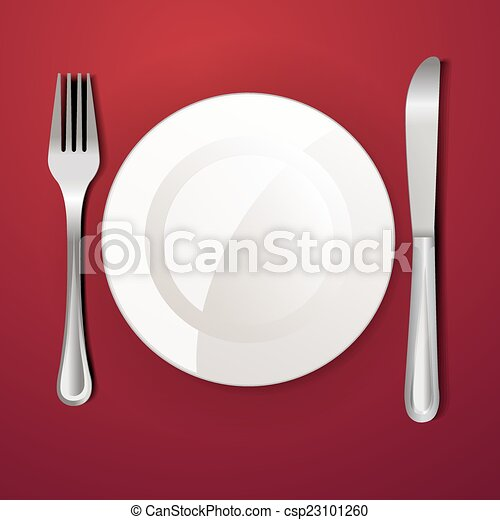 Dinner plate knife and fork - csp23101260 & Dinner plate knife and fork clip art vector - Search Drawings and ...
