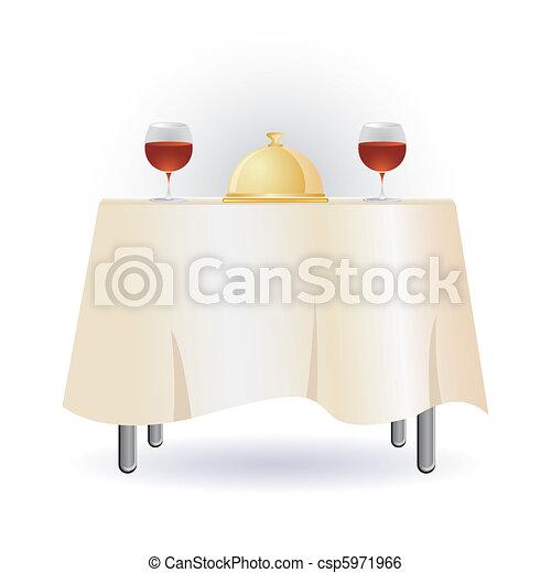 dinner table - csp5971966