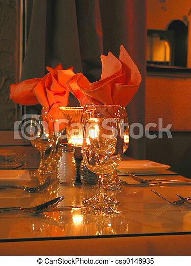 Dinner table setting - csp0148935