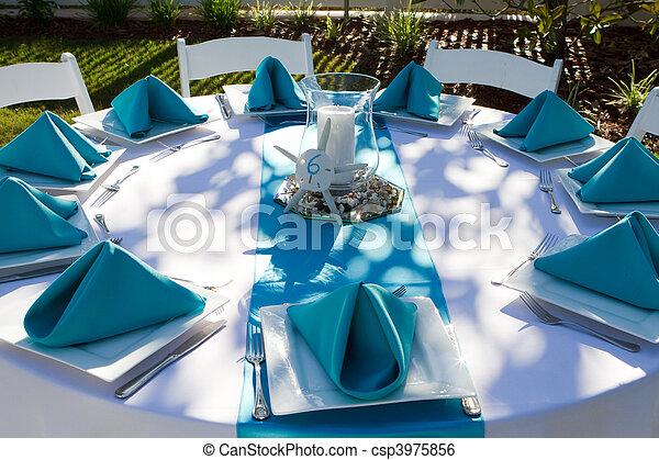 Dinner Table Setup - csp3975856