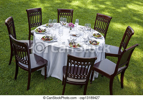 Dinner table - csp13189427
