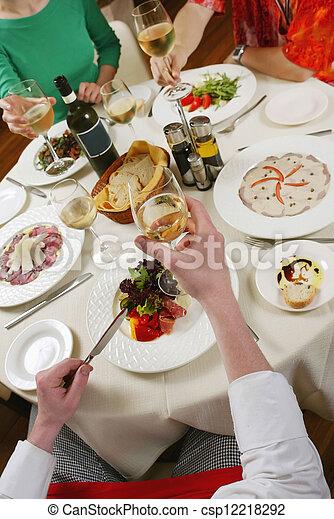 dinner table - csp12218292