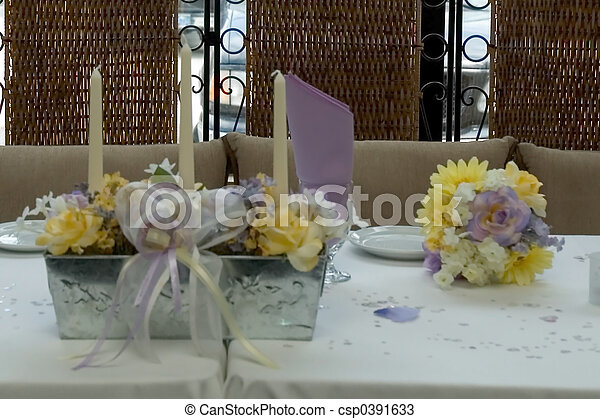 dinner table - csp0391633