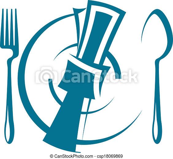 dinnertime table setting cartoon sketch of a stylized dinnertime rh canstockphoto com