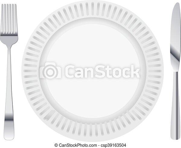 dinning plate - csp39163504