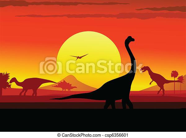 Dino era background - csp6356601