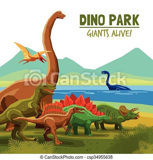 Dino Park Poster - csp34955638