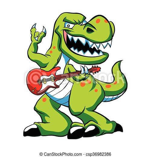 Dino Rock Plays A Guitardinosaur Cartoon