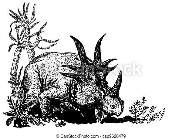 Dino Styracosaurus - csp9626479
