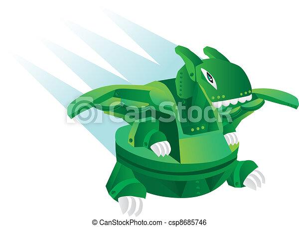 Dinosa cartone animato illustrazione robot giocattolo
