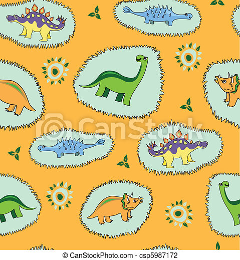 Dinosaur  background - csp5987172