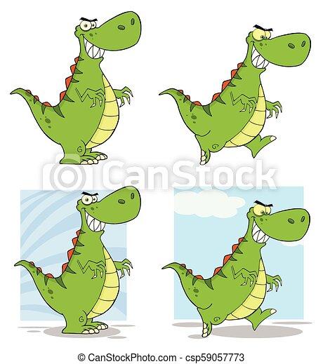 Dinosaur Cartoon Character Collection - 1 - csp59057773