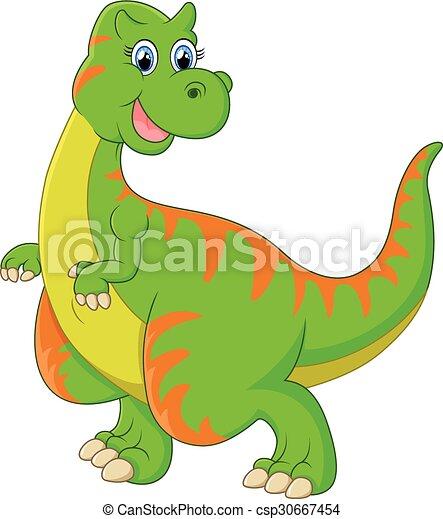 Dinosaur cartoon - csp30667454