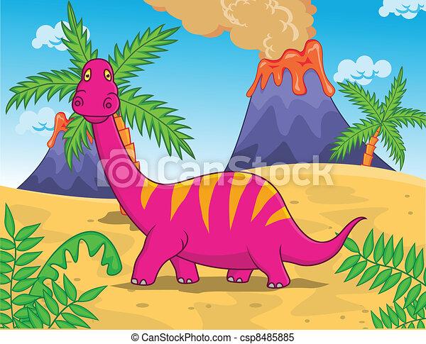 Dinosaur cartoon - csp8485885