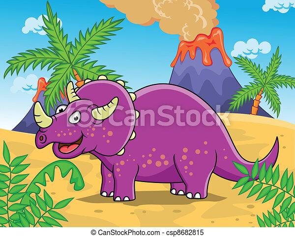 Dinosaur Cartoon - csp8682815