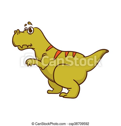 Dinosaur cartoon cute monster - csp38709592
