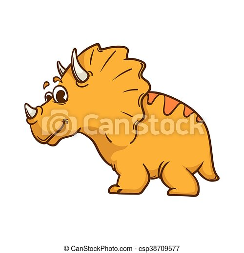 Dinosaur cartoon cute monster - csp38709577