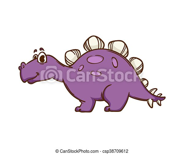 Dinosaur cartoon cute monster - csp38709612