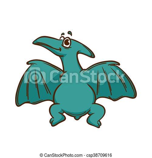 Dinosaur cartoon cute monster - csp38709616