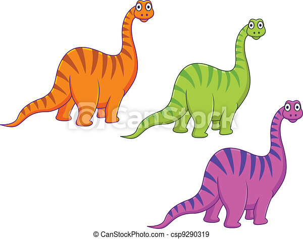 Dinosaur cartoon - csp9290319