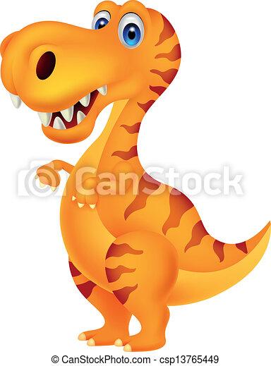 Dinosaur cartoon - csp13765449