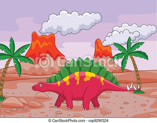 Dinosaur cartoon - csp9290324