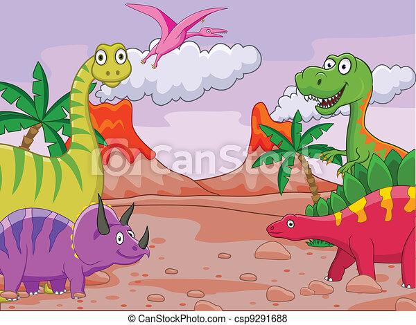Dinosaur cartoon - csp9291688