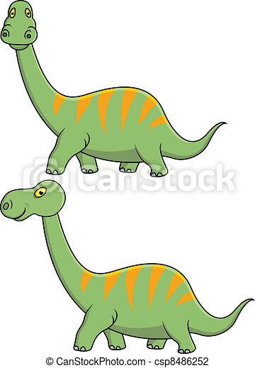 Dinosaur cartoon - csp8486252