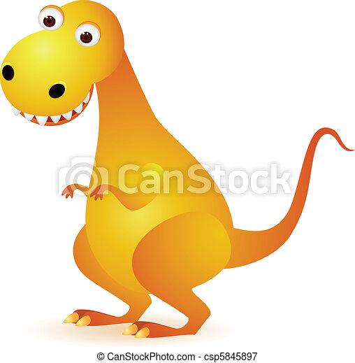 Dinosaur cartoon - csp5845897