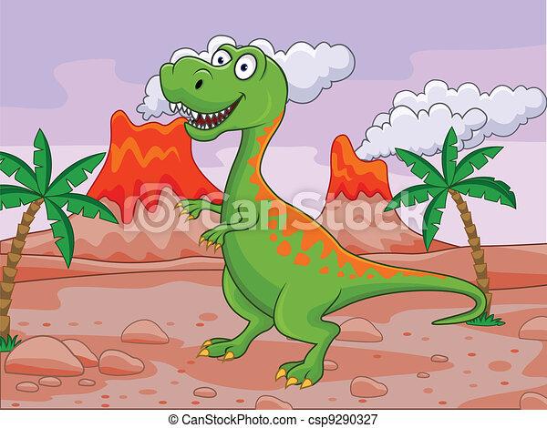 Dinosaur cartoon - csp9290327