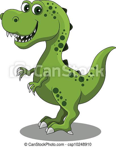 dinosaur cartoon - csp10248910
