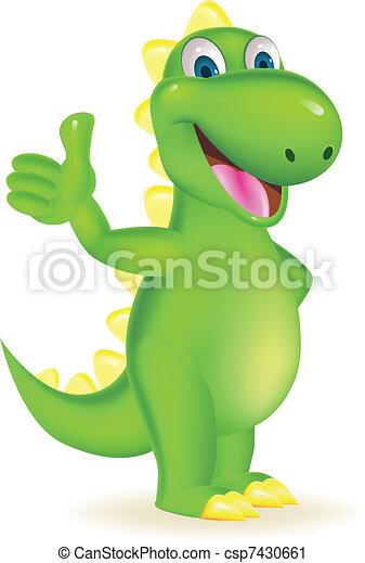 Dinosaur cartoon - csp7430661