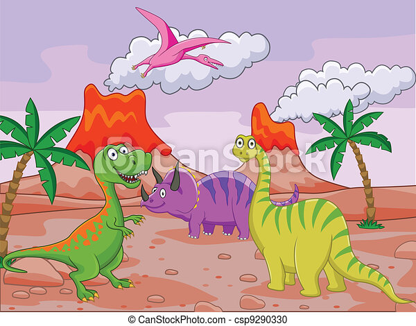Dinosaur cartoon - csp9290330
