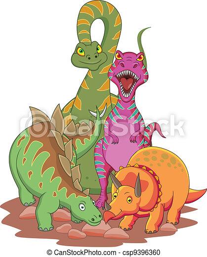 Dinosaur cartoon - csp9396360