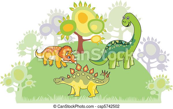 Dinosaur collection - csp5742502